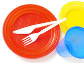 Plastic tableware — Photo