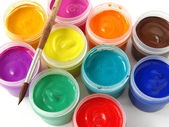 Gouache paints — Stock Photo
