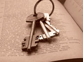 Keys to knowledge — Stock Photo