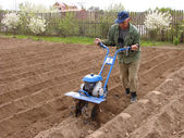 Soil cultivation — Stock Photo