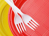 Disposable dishware — Stock Photo