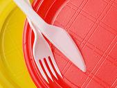 一次性餐具 — 图库照片