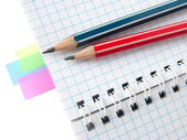Note colorate — Foto Stock