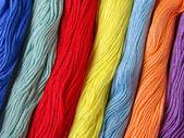 Färgglada trådar — Stockfoto