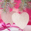 Pink christmas — Stock Photo