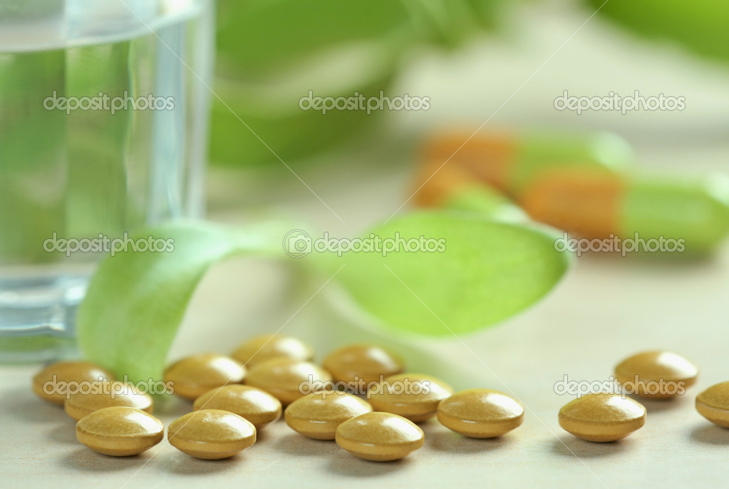 Herbal pills  Stock Photo #1090299