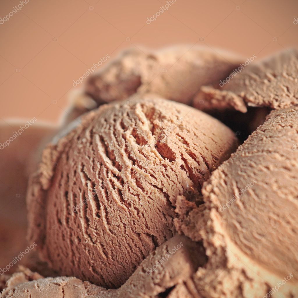 Chocolate ice cream  Stock fotografie #1091644