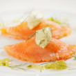 Salmon ravioli - Stock Photo