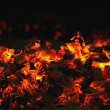 Stock Photo: Red coal