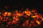 Red coal — Stock Photo