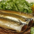 Stock Photo: Smoked mackerel