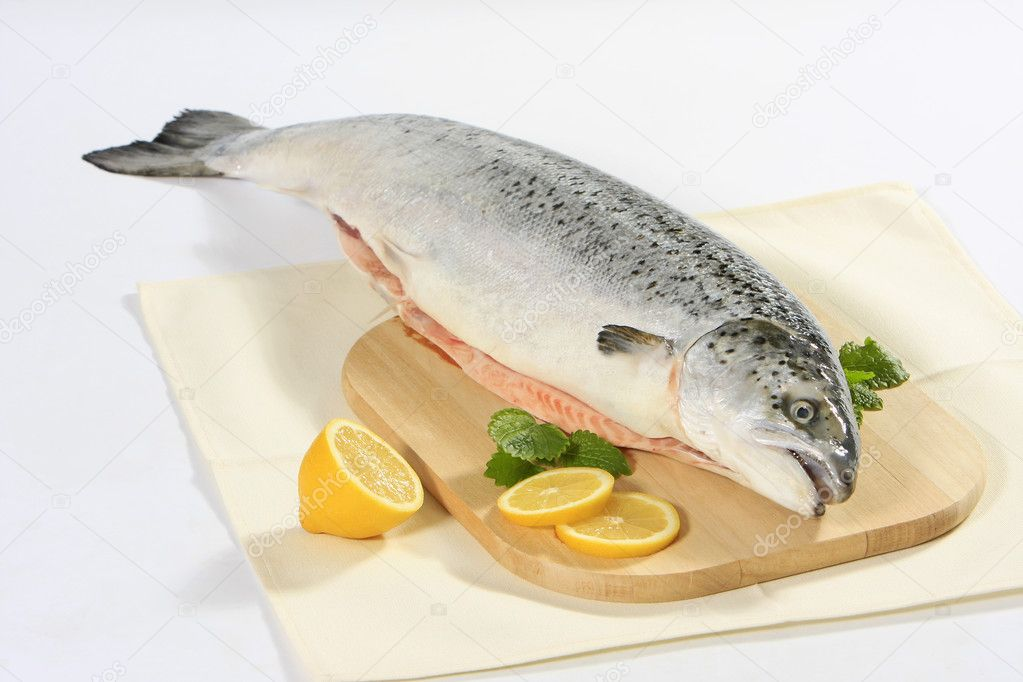 Fresh raw salmon — Stock Photo #1179426