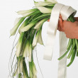 Bouquet of white callas — Stock Photo
