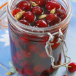 Cherry compote — Stock Photo