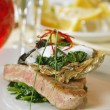 Grilled tuna fish — Stock Photo