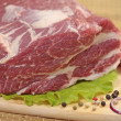 Fresh raw meat — 图库照片