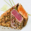 Grilled tuna fish and salmon — Foto Stock