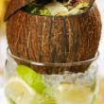Coconut salad — Stock Photo