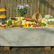Stock Photo: Assorted food on table