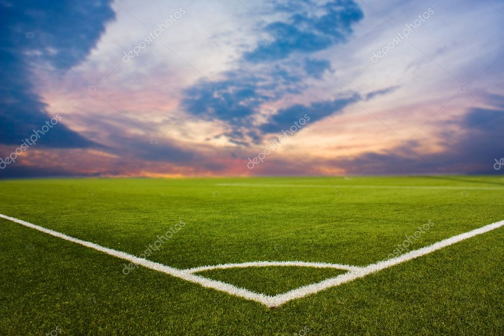 Dawn on a football ground  Stock Photo #1075505