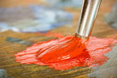 Mixing colors — Stock Photo