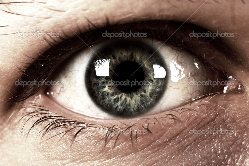 Human eye close to dark style — Stock Photo #2249528