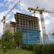 Royalty-Free Stock Photo: Construction of office buildings, cranes