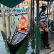 Venice, gondola — Stock Photo