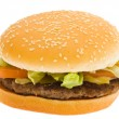 Hamburger, isolated — Stock Photo