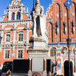 Riga, monument in the Old City - Stock Photo