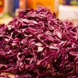 Mount cutting red cabbage - Stock Photo