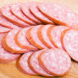 Cut sausage — Stockfoto