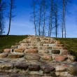 Royalty-Free Stock Photo: Stone staircase, blue sky