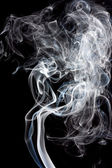 Smoke, black background — Stock Photo