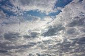 Pozadí, dramatická obloha — Stock fotografie