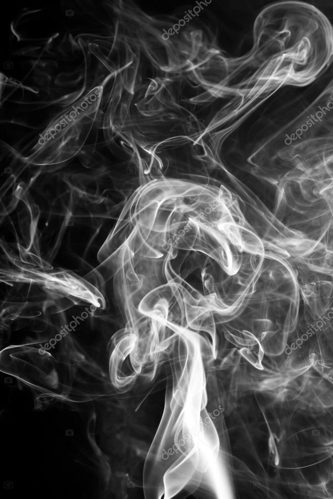 Smoke, black background — Stock Photo #1087037