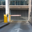 Entry into the underground parking - Stock Photo