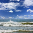 Sea waves, blue sky - Stock Photo