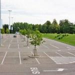 Empty parking lot near the supermarket — Stock Photo #1092015