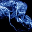 Blue smoke abstract background — Stock Photo