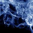 Stock Photo: Blue smoke abstract background