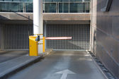 Entry into the underground parking — Stock Photo