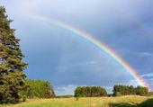 Rainbow, landscape — Stock Photo