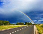 Road to the rainbow — Stock Photo