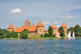 Ancient Lithuanian castle of Trakai — Stock Photo