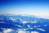 Mountains, view from airplane — Stock Photo