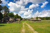 Old Lithuanian village — Stock Photo