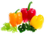 Sweet peppers, isolated — Stock Photo