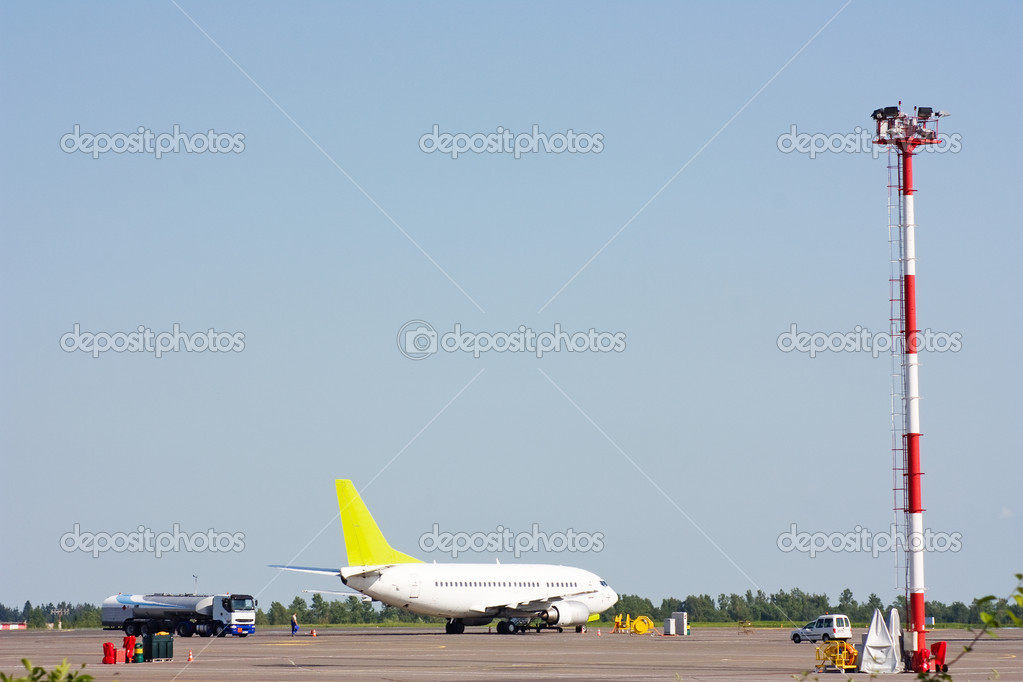Plane at the airport  Stock Photo #1091771