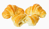 Croissant, isolated on white — Stock Photo